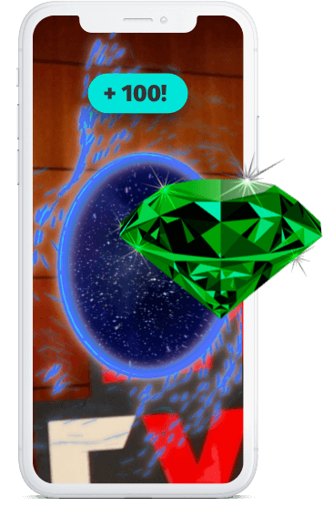 Phone with AR portal